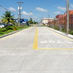 New concrete road in front of TGI's Plant